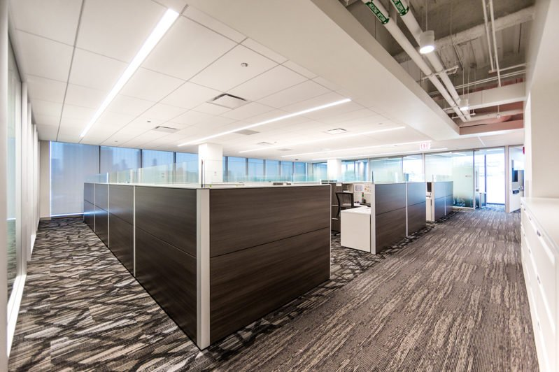 Brand new offices at Chicago's United Center as photographed for a digital marketing campaign by Loudbyte