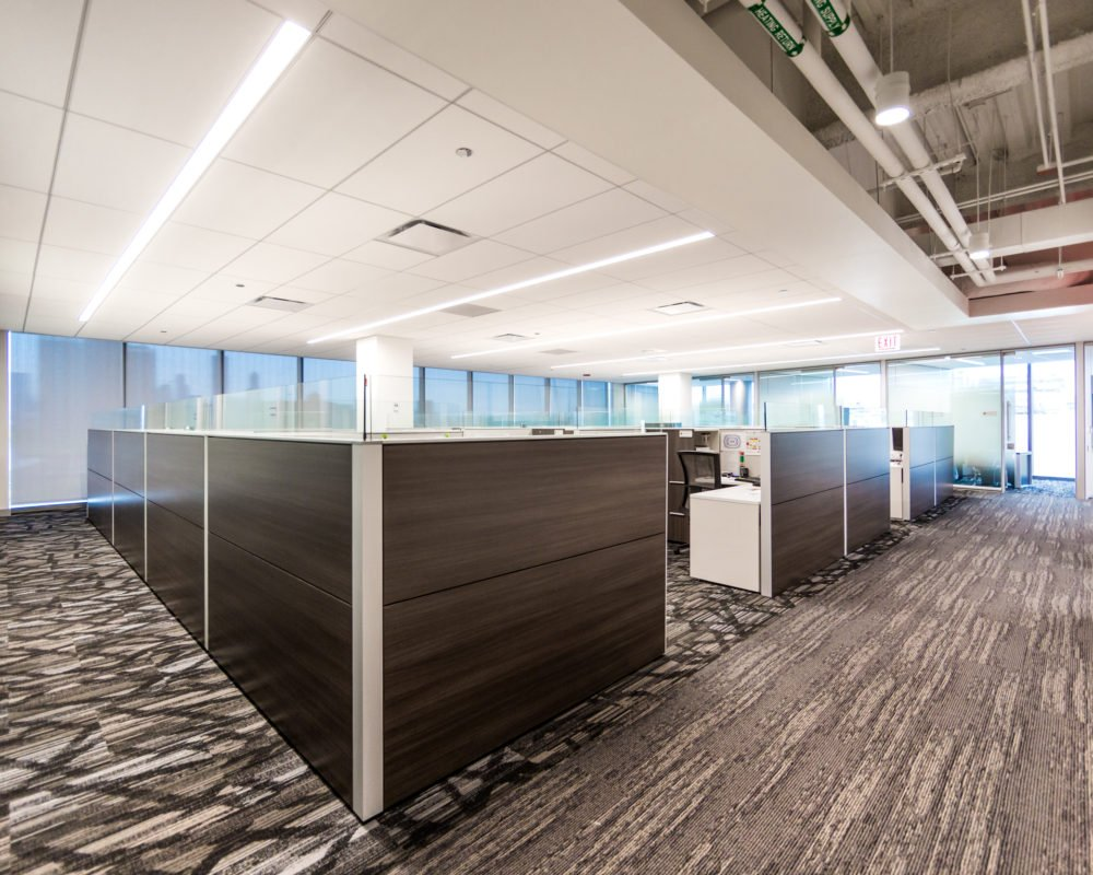 Chicago's United Center brand new corporate office space interior photography created for a digital marketing campaign by Loudbyte
