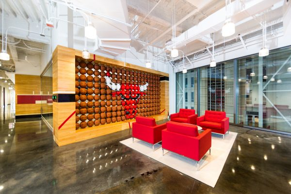 Loudbyte portfolio image of the Chicago Bulls new office space